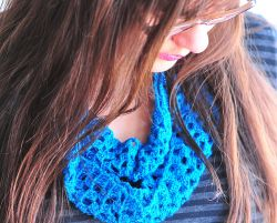 Sparkly and Lacy Infinity Scarf