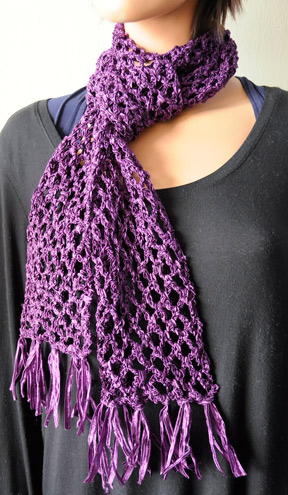 Crochet Patterns Galore Fishnet Scarf
