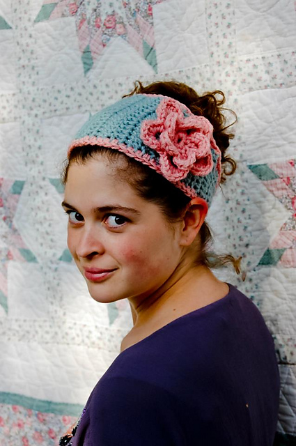 Crochet Patterns Galore - Tapered Flower Headband