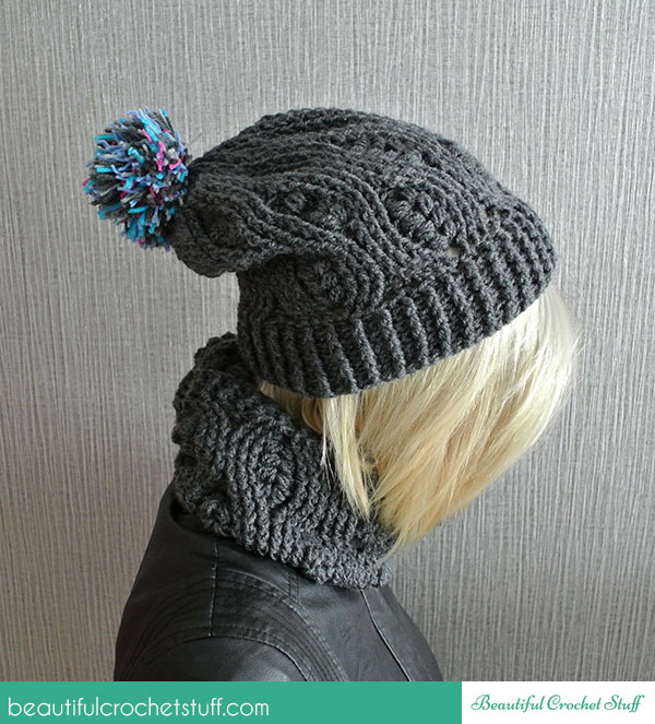 Crochet Patterns Galore Infinity Scarf And Beanie