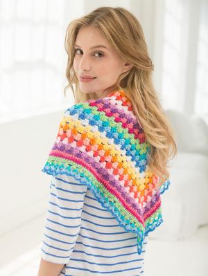 Crochet Patterns Galore V Shaped Striped Shawl