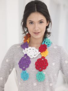 Crochet Flower Chain Scarf