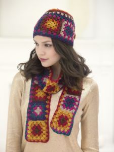 Granny Square Scarf And Hat