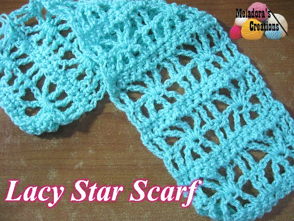 Crochet Patterns Galore Lacy Star Scarf