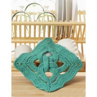 Crochet Patterns Galore - Celtic Knot dishcloth