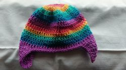 Spring Rainbow Toddler Hat
