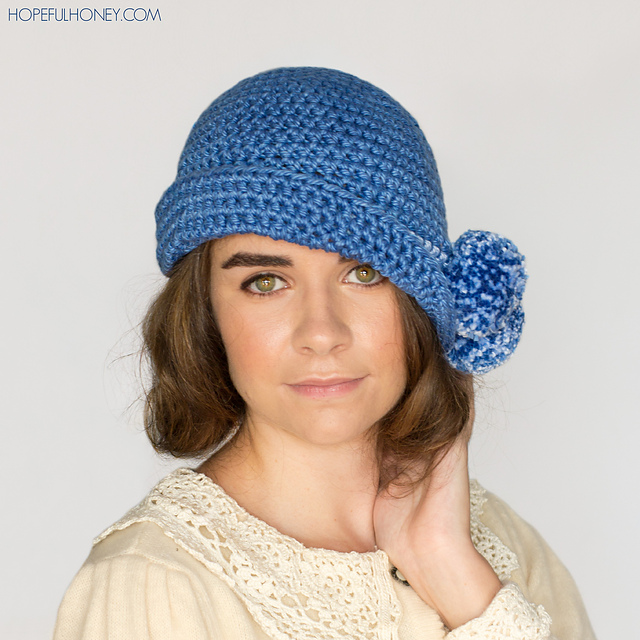 Crochet Patterns Galore 1920s Pompom Cloche Hat