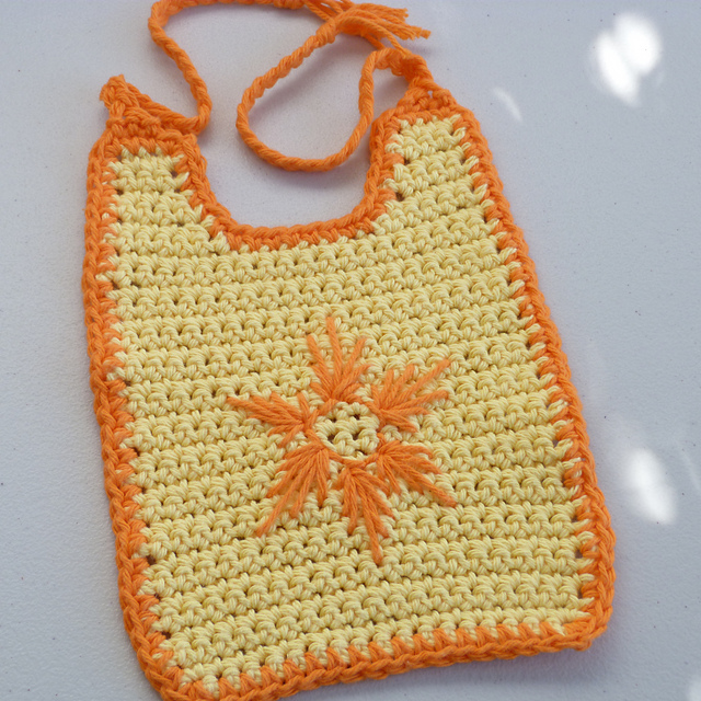Crochet Patterns Galore Starburst Baby Bib