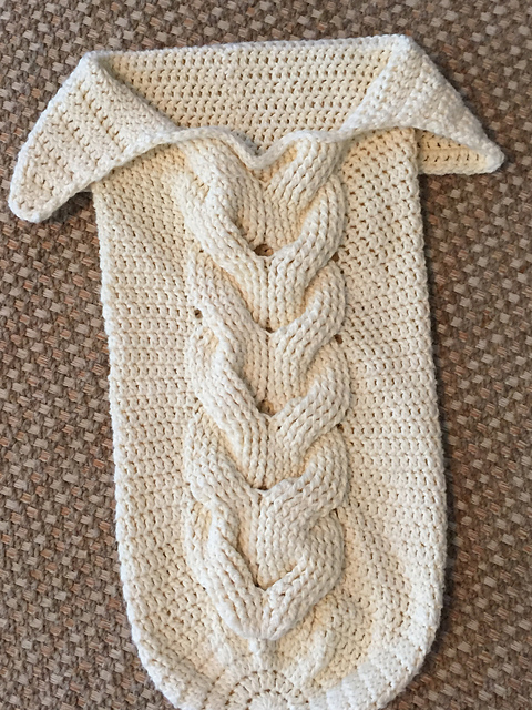 Crochet Patterns Galore Cabled Baby Cocoon