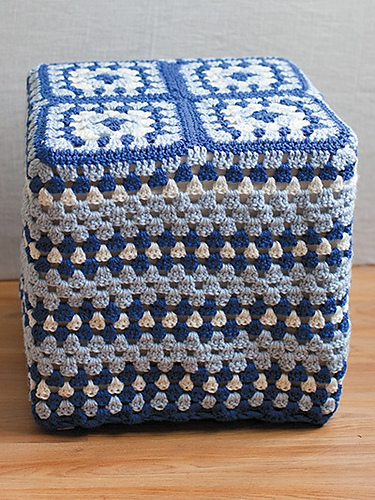 Crochet Patterns Galore Granny Square Footstool Cover