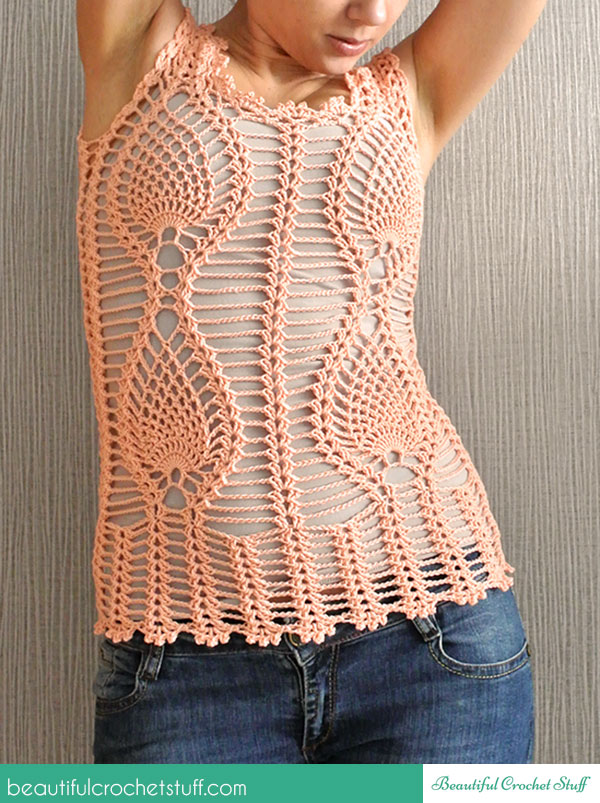Crochet Patterns Galore Pineapple Top