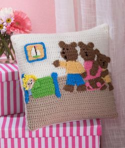 Goldilocks and the Three Bears Pillow