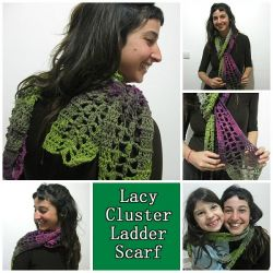 Lacy Cluster Ladder Scarf