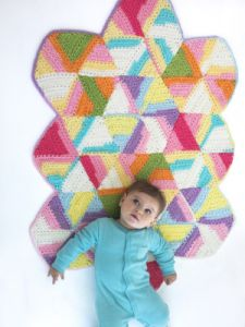 Bright Hexagon Blanket