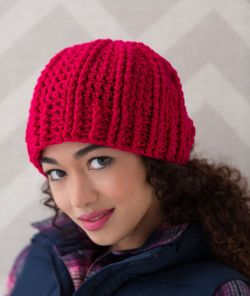 Ridged Crochet Hat