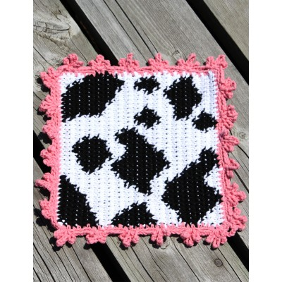 Crochet Patterns Galore Cow Dishcloth