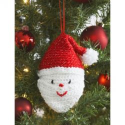 Santa's Head Ornament
