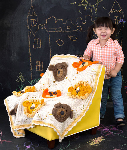 Crochet Patterns Galore Lions And Tigers And Bears Blanket