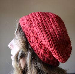Braided Slouchy Beret