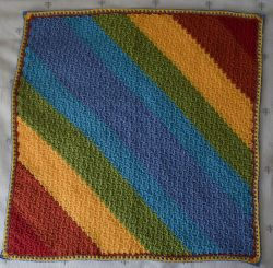 Diagonal Rainbows Baby Blanket