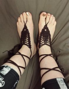 Pineapple Up Barefoot Sandals