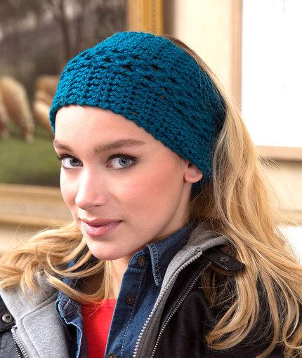 Crochet Patterns Galore Wide Vortex Headwarmer