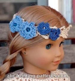 American Girl Doll Flower Headband