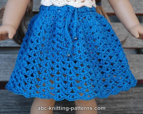 Crochet Patterns Galore American Girl Doll Seashell Summer Skirt