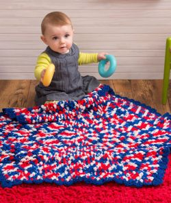 Patriotic Hexagon Baby Blanket