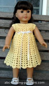 American Girl Doll Seashell Summer Dress