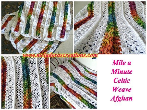 Crochet Patterns Galore - Mile a Minute Celtic Weave Afghan