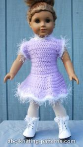 American Girl Doll Skating Dress