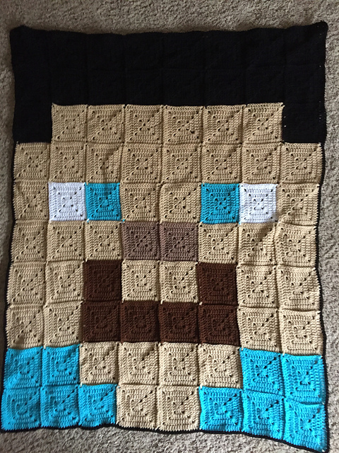 Crochet Patterns Galore Steve Minecraft Blanket