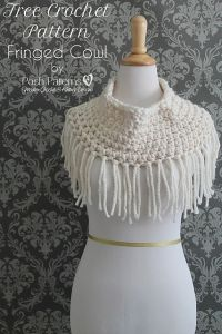 Crochet Patterns Galore Fringed Cowl