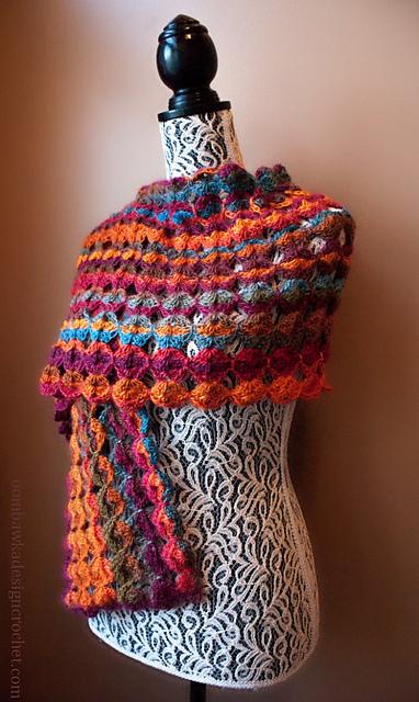 Crochet Patterns Galore Painted Sunrise Summer Wrap