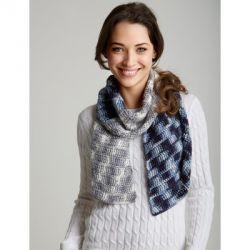 Crochet Patterns Galore Camo Bias Scarf