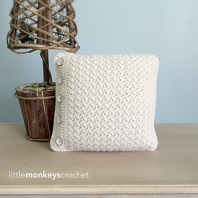 Crochet Patterns Galore Buttoned Throw Pillow