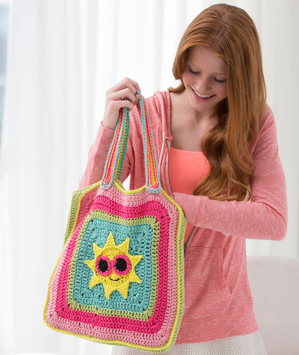 Crochet Patterns Galore - Sunny Day Tote Bag