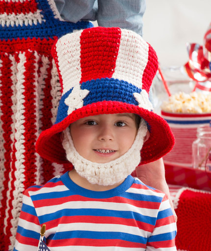 Crochet Patterns Galore Uncle Sam Hat And Beard