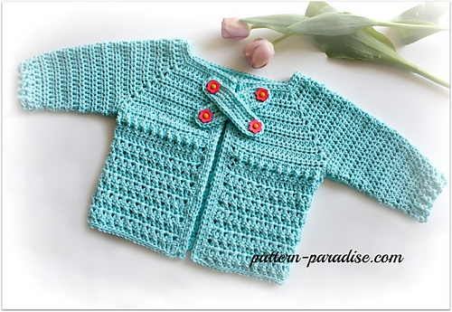 Crochet Patterns Galore - X Stitch Baby Cardigan