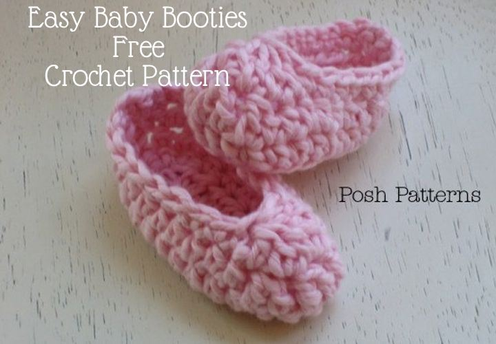 Crochet Patterns Galore Easy Baby Booties