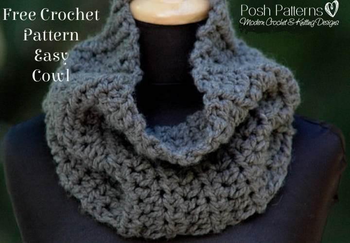 Free Crochet Pattern For Easy Cowl : Crochet Patterns Galore - Easy Cowl