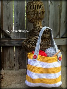 Small Striped Tote Bag