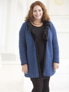 Curvy Girl Ruffled Collar Cardigan