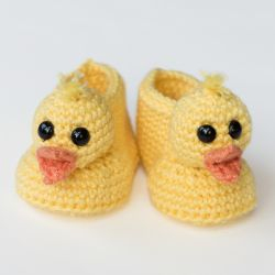 Duckling Baby Booties