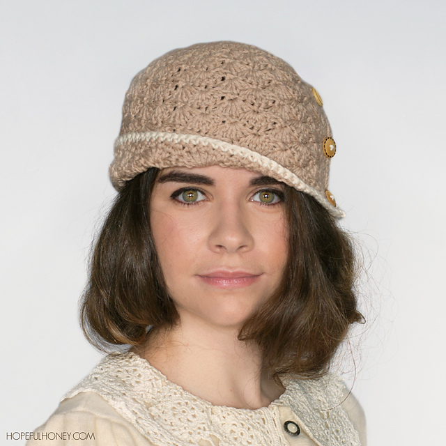 Crochet Patterns Galore - 1920 Caramel Cloche Hat