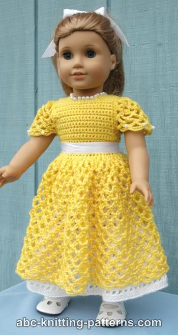 Crochet Patterns Galore - American Girl Doll Princess Dress
