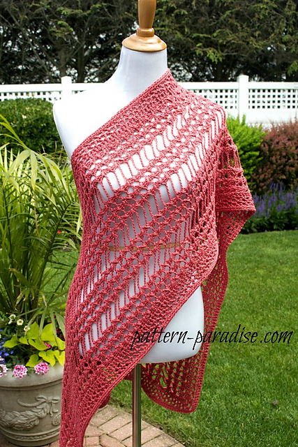 Crochet X Stitch : Crochet Patterns Galore - X Stitch Summer Wrap