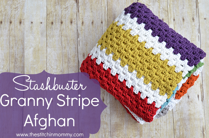 Crochet Patterns Galore - Stashbuster Granny Stripe Afghan