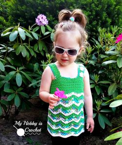 Tropical Waves - Lacy Chevron Top